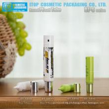 redondo de diámetro 16mm, 19mm y 22mm delicada aguja inyector roscado buena calidad tubos cosméticos de empaquetado suave pe