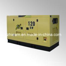 Grupo de generador diesel refrigerado por agua silencioso mecanografía el motor CUMMINS (GF2-120KW)