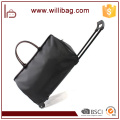 Waterproof Polyester Travel Bag With Trolley Lightweight Duffle Bag