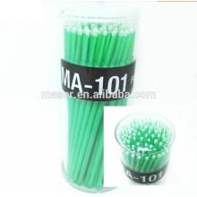 Cuidados com os olhos 100 Pcs 3 cores Plasitc Dental descartável Micro aplicador escova, Eyelash extensão Ferramentas de limpeza