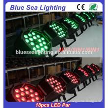 Cheaper e melhor qualidade Indoor 18pcs 12w LED palco iluminação RGBW 4in1 levou luz bulb par