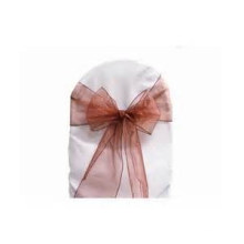 wholesale fancy and beutiful wedding hotel banquet organza sash /chair cover/chair bow