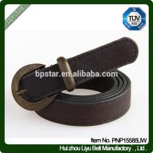 Cinturão PU para mulheres Cintura Jeans Cintos Skinny FashionThin Vintage Casual Ceinture