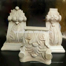 Furniture Parts Decorative Hand Carved Rubber Wood Corbels