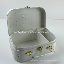 Golden Cherry Imprimé Cosmétiques Emballage Suitcase Gift Boîtes à papier avec diviseurs