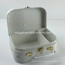 Cereja dourada impresso cosméticos embalagem mala caixas de papel com divisores