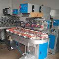 Máquina de impresora de almohadilla de juguetes transportadores de 4 colores