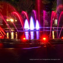 fuente de agua danzante con luces led