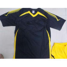 Customized S 100% polyester Soccer Team Apparel Black Socce