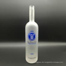 Super Flint Clear Glas Kork Top 750ml mattierte Wodka Flaschen für Likör, Wein