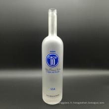 Super Flint Clear Glass Cork Top 750ml Bougies de vodka givrée pour boissons alcoolisées, vin