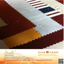 colorful of 100% solution dyed acrylic awning fabric which used for the awning