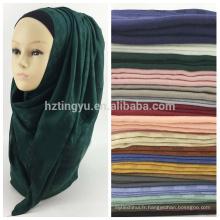 Meilleure vente femmes musulmanes tête dubai hijab et châles maxi écharpe châle coton plaid hijab