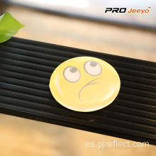 Iluminación reflectante Advertencia Emoji Face PVC Badge