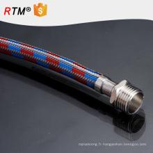 Tuyau de téflon de PTFE de B17 tressé avec les tuyaux flexibles en métal d'acier inoxydable de tuyau de 3 pouces