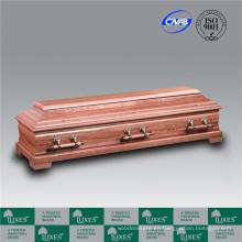 Estilo alemán europeo barato madera fúnebre ataúd Casket_Made en China