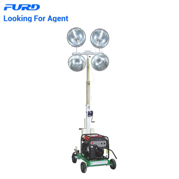 Mini torre de luz de generador móvil con bombilla LED