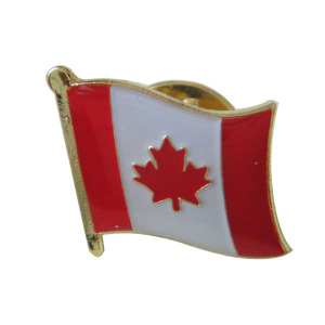 Customized Canadian World Flag Enamel Lapel Pin