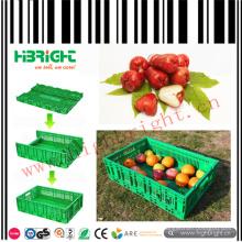 Caixas plásticas dobráveis de vegetais e frutas