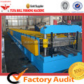 Logam Baja Lantai Deck Roll Forming Machine