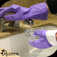 SRSAFETY household washing rubber latex gloves