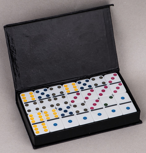 Dominoes In Color Box