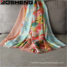 Lady Fashionable Chiffon Printed Silk Long Soft Scarf