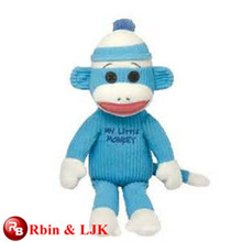 OEM soft ICTI plush toy factory plush blue monkey toy