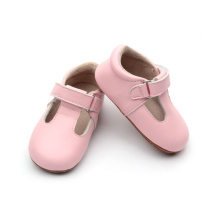 Funny T-Bar Little Kids Buty Hard Sole Footwear