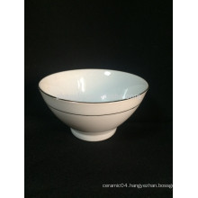 High quality thickening pure white ceramic footed bowl