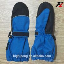 Winter-blauer und schwarzer Ski-Handschuh, Anti-kalter Ski-Handschuh, Anti-Wasser-Ski-Handschuh