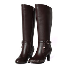 High Heel Leder Damen Stiefel