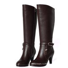 Высокий Каблук Кожаные Ботинки Женщин