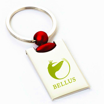 Zinc Alloy Rectangle Red Color Key Chain for Promotion (F1363)