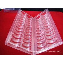 Embalagem plástica transparente e transparente do PVC