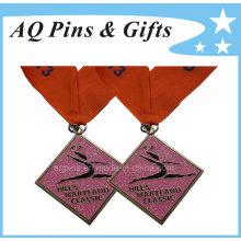 Custom Glitter Medal with Printed Ribbon
