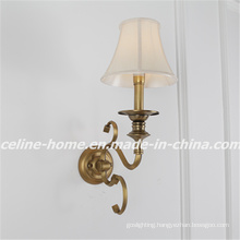 2015 New Design Iron Wall Light with Fabric Shade (SL2153-1W)