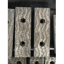Doublure de recouvrement de revêtement dur de cordon de soudure en zigzag