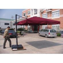 Praça de alumínio exterior romano guarda-chuva de suspensão