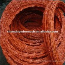Barato galvanizado y recubrimiento de PVC Razor cerca de alambre de púas para la venta (fábrica)