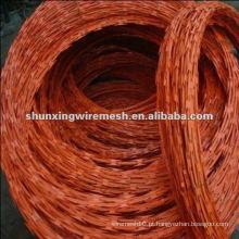 Cheap galvanizado e revestimento de PVC Razor cerca de arame farpado para venda (fábrica)