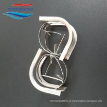 Anel conjugado de metal para embalagem em torre e sistema de dessorção