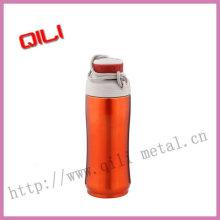 Бутылка воды из нержавеющей стали оранжевый цвет моды