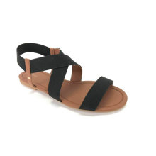 Open toe with elastic upper woman sandal