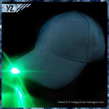 Petite quantité acceptent les classiques Paypal personnalisés flashing LED light hat wholesale