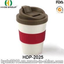 Taza de café plástica respetuosa del medio ambiente portátil (HDP-2025)