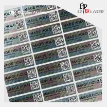 Etiqueta do holograma genuíno autêntico com variável QR Code