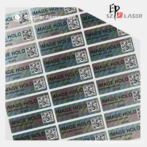 hologram labels sticker
