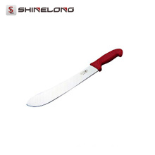 U403 Beef Knife With Red Plastic Handle