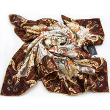 Factory Direct Lady's Good Quality Silk Digital Printing Scarf